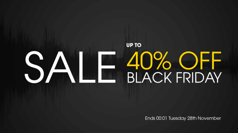 Black Friday 2017 up to 40% Off