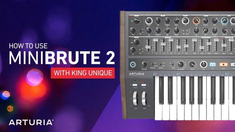 Arturia MiniBrute 2 with King Unique