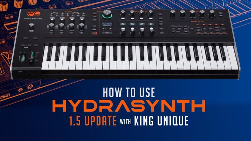 ASM Hydrasynth 1.5 with King Unique